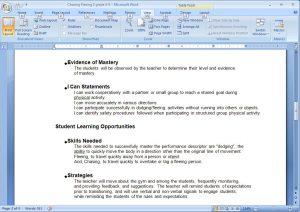 sample lesson plans sample plan