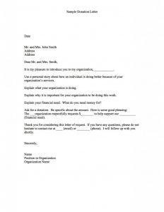 sample letter asking for donation letter asking for donations image x
