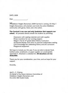 sample letter asking for donations for school img
