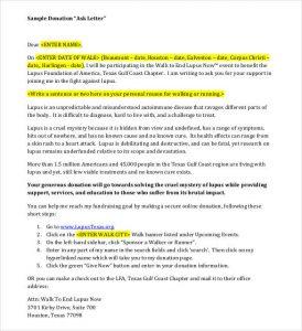 sample letter asking for donations for school sample donation ask letter