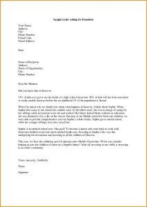 sample letter asking for donations for school sample letters asking for donations sports letter format