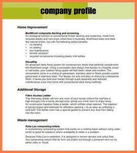 sample letter head company profile format template company profile template pdf