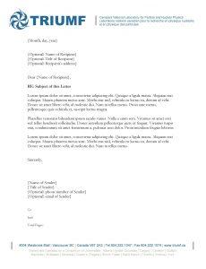 sample letter head letterhead univ
