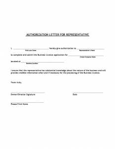 sample letter of employment authorization letter for representative l
