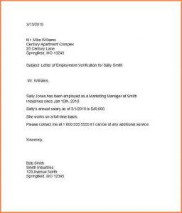 sample letter of employment letter of employment template proof of employment letter