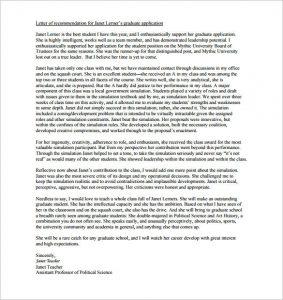 sample letter of recommendation for graduate school how to write a letter of recommendation for graduate school