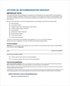 sample letter of recommendation for scholarships letter of recommendation request for scholarship