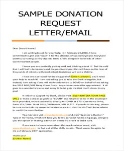 sample letters asking for donations sample donation request letter