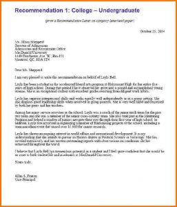 sample letters of recommendation for scholarship formal letter format for college recletsamp