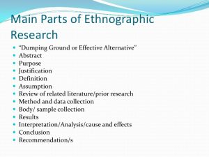 sample literature review for research paper ethnographic research