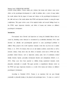 sample literature review for research paper medicine and health literature review capstone project sample