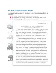 sample literature review for research paper sample apa research paper l