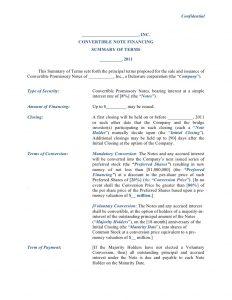 sample loan agreement convertible note financing term sheet