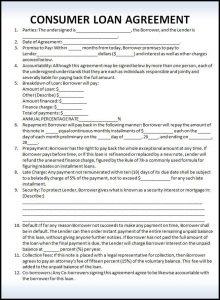 sample loan agreement faebcbafbfade resume templates templates free