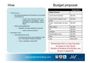 sample marketing proposal business plan example for widget company v november st j wightconsultingcom