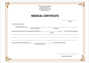 sample medical letter from doctor to employer medical certificate templates form