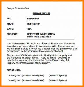 sample memo format sample letter of memorandum sample memo letter