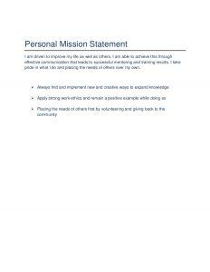 sample mission statement joi hatchers career portfolio