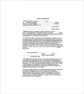 sample mortgage note mortgage promissory note sample