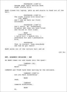 sample movie script sample screenplay page