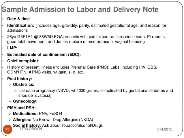 sample nurses note