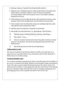 sample nurses note medical record