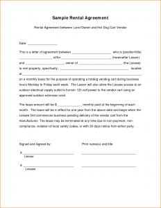 sample of business letterhead sample lease agreement