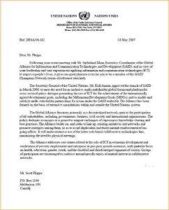 sample of business letters academic recommendation letter format un letter
