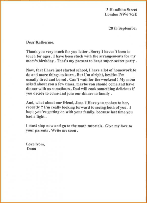 sample of bussiness letters
