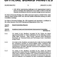 sample of minutes taken at a meeting official board minutes