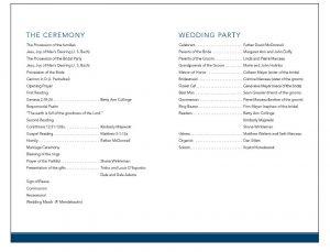 sample of wedding programme web weddingprograms back
