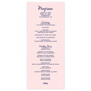 sample of wedding programs modern script wedding program