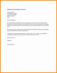 sample offer letter job acceptance letter sample sample job acceptance letter sample promotion acceptance letter