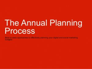 sample operating agreement the annual planning process socialdigital media
