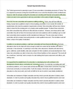 sample persuasive essay sample argumentative essay