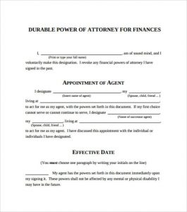 sample power of attorney letter durable power of attorney e