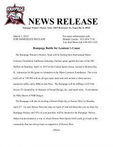 sample press release for event fundraiser press release