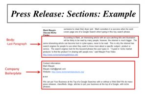sample press release for event online marketing workshop using press releases to promote your events or your brand
