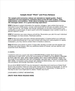 sample press release for event press release email template