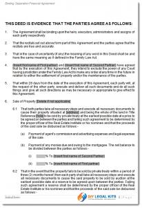 sample purchase agreement def separation sample