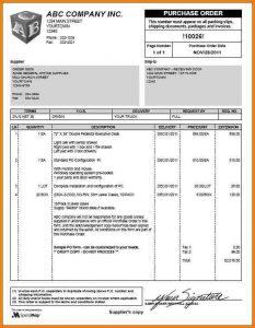 sample purchase order sample purchase order form sample po form