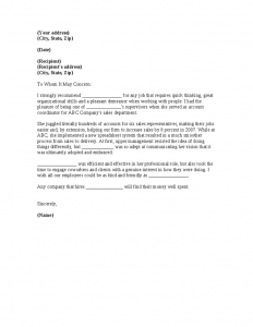 sample recommendation letters sample letter of recommendation