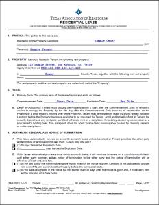 sample rental agreement lease agreement sample