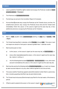 sample residential lease agreement act tenancy agreement sample