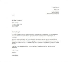 sample resignation email immediate resignation letter due to pregnancy