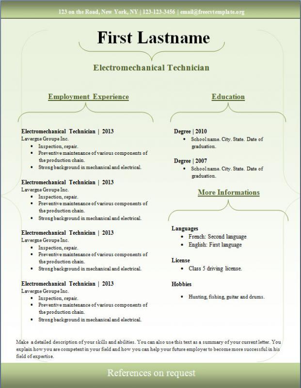 sample resume download