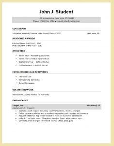 sample resume for college application sample resume for college application