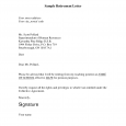 sample retirement letter sample retirement letter