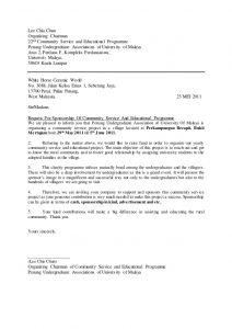 sample sponsorship letter sample of a letter of request for sponsorship