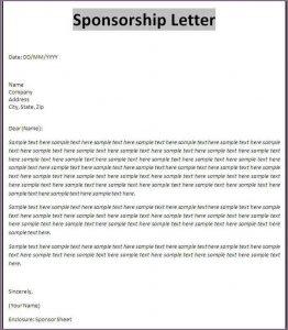 sample sponsorship letter sample of a proposal letter for sponsorship sponsorship letter template